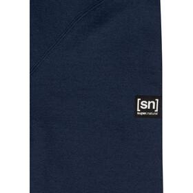 super.natural Knit Bluzka z długim rękawem Mężczyźni, blue iris melange